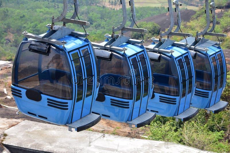 Kabelwagenrit in Jatayu-Aardecentrum royalty-vrije stock afbeeldingen