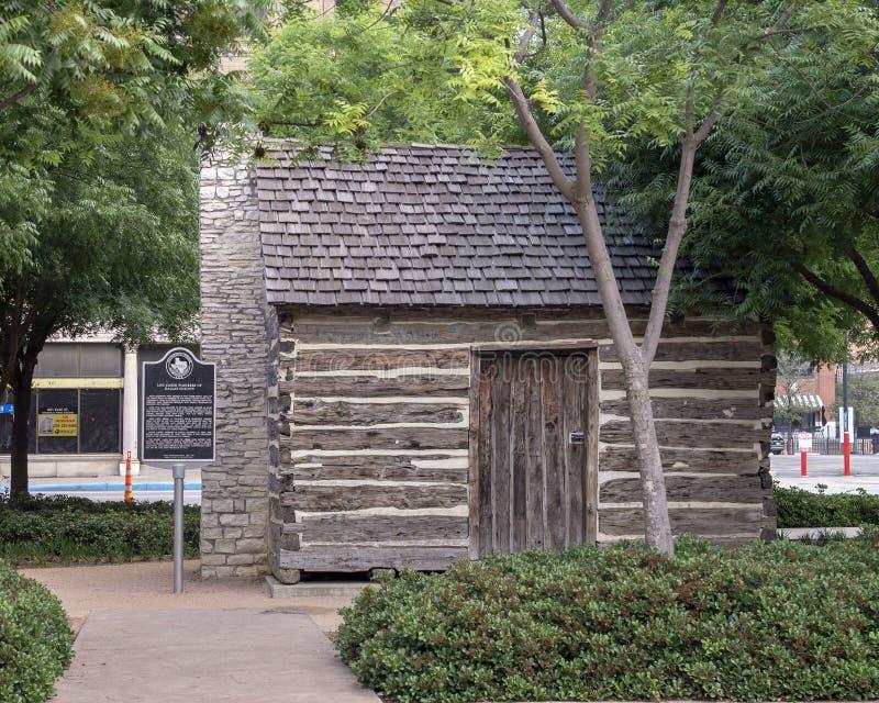 Kabin för journal för John Neely Bryan ` s, Dallas, Texas royaltyfri bild
