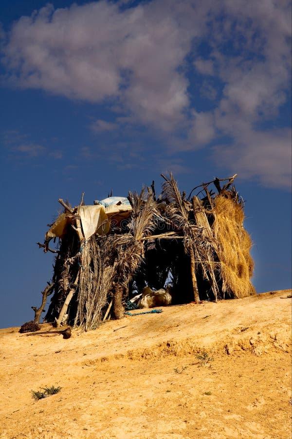 Kabin I Sahara Royaltyfria Foton