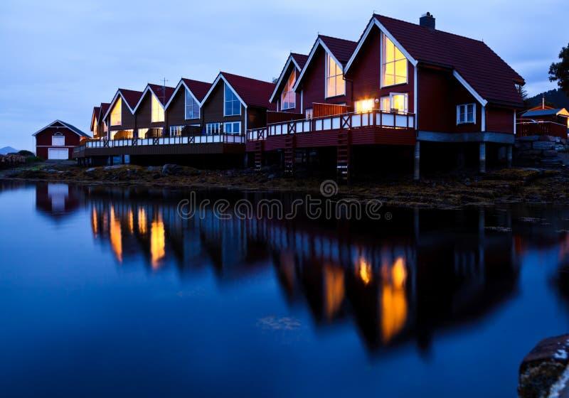 kabin target766_1_ fjord noc obraz royalty free