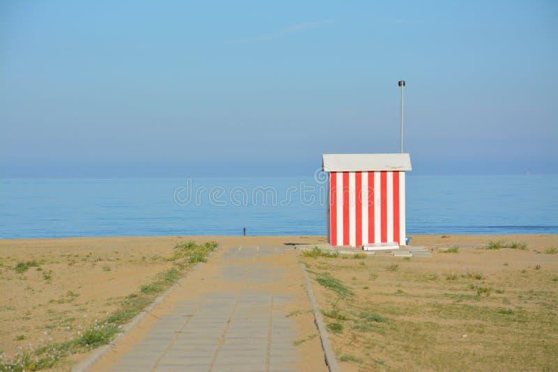 Kabina na morzu w zimie obrazy royalty free