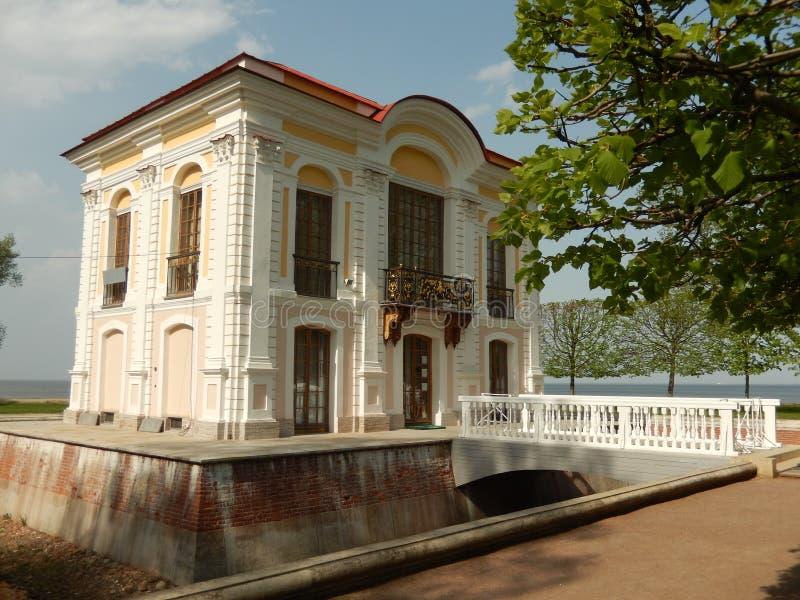 Kabina Peter wielki w Peterhof Petersburg Rosja obraz stock