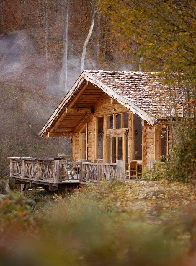 Kabine im Holz lizenzfreies stockbild