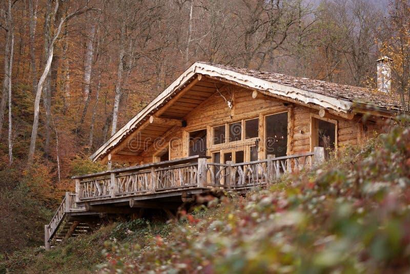 Kabine im Holz lizenzfreie stockfotos