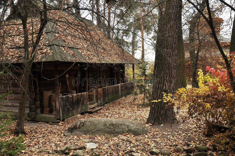 Kabine im Holz lizenzfreies stockfoto