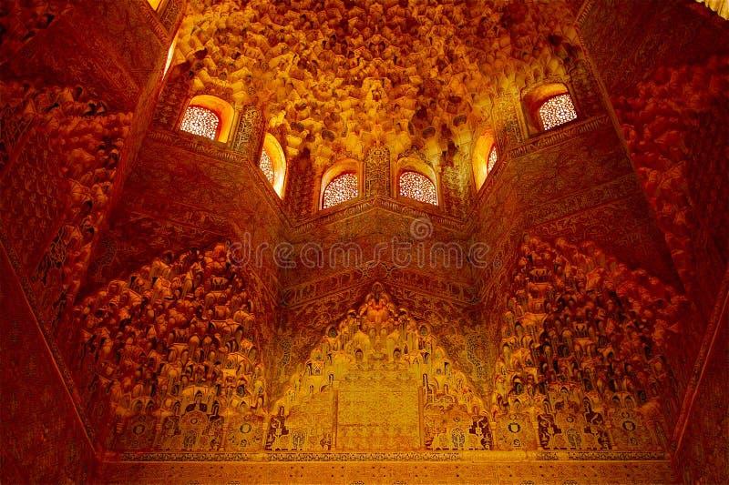 Kabinendach Granada Alhambra-Hall lizenzfreie stockbilder