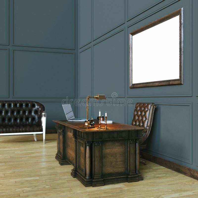 Kabinet Van Het Luxe Het Klassieke Houten Bureau Met Spot Op