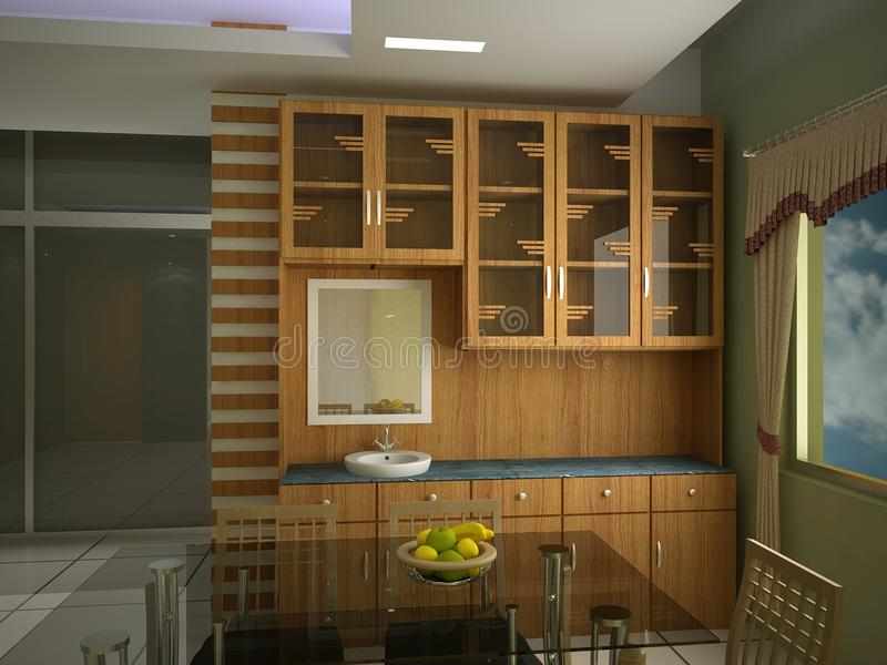 Kabinets Binnenlands Ontwerp | Dream Touch Architects Ltd stock afbeelding