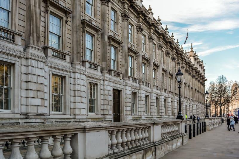 Kabinetsbureau bij Whitehall-weg stock foto's