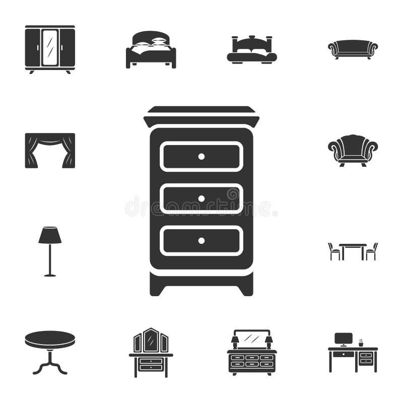 Kabinetspictogram Eenvoudige elementenillustratie Het ontwerp van het kabinetssymbool van de inzamelingsreeks van het Huismeubila vector illustratie