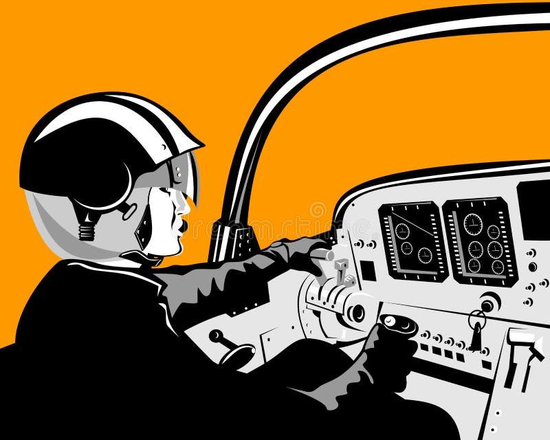 kabiny pilota człowieku ilustracja wektor