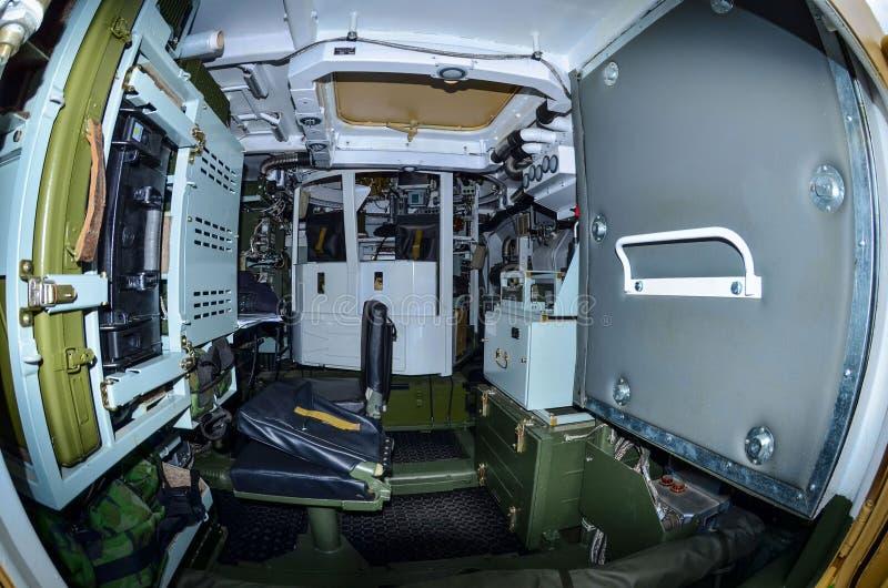Kabiny walki pojazdu wyśledzony przeciwlotniczy system rakietowy obraz stock