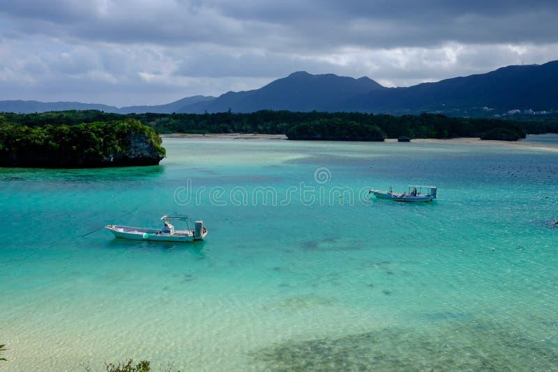 Kabira海湾在石垣 免版税库存照片