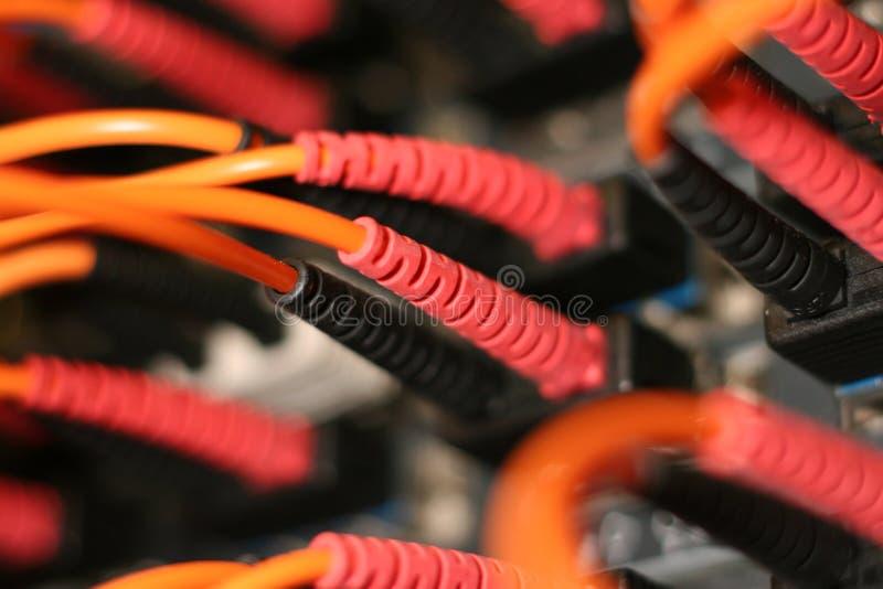 kable, światłowodową obraz royalty free