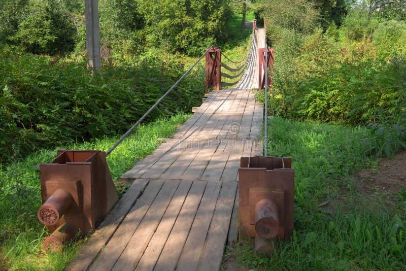 Kable które trzymają most obrazy stock