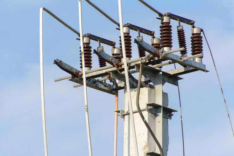kabli elektryczna oświetlenia władza dwa zdjęcie stock