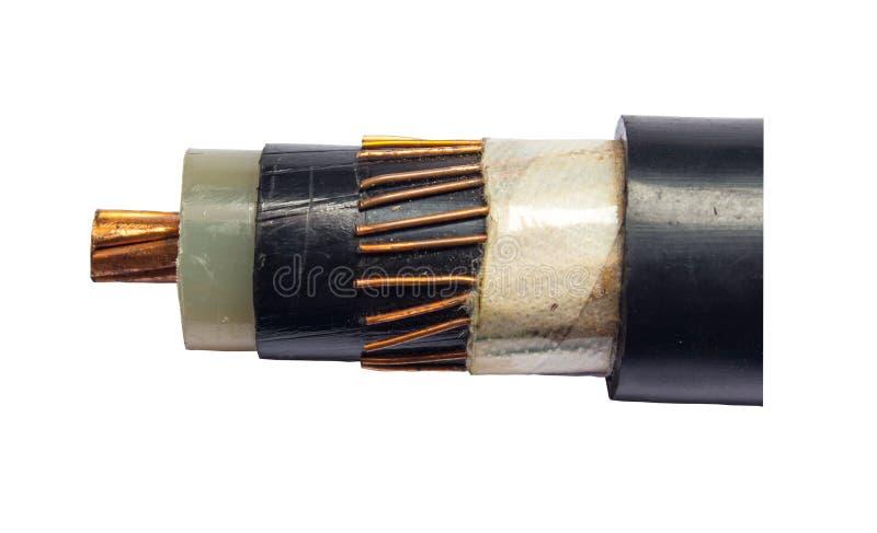 Kablowa elektryczność fotografia stock
