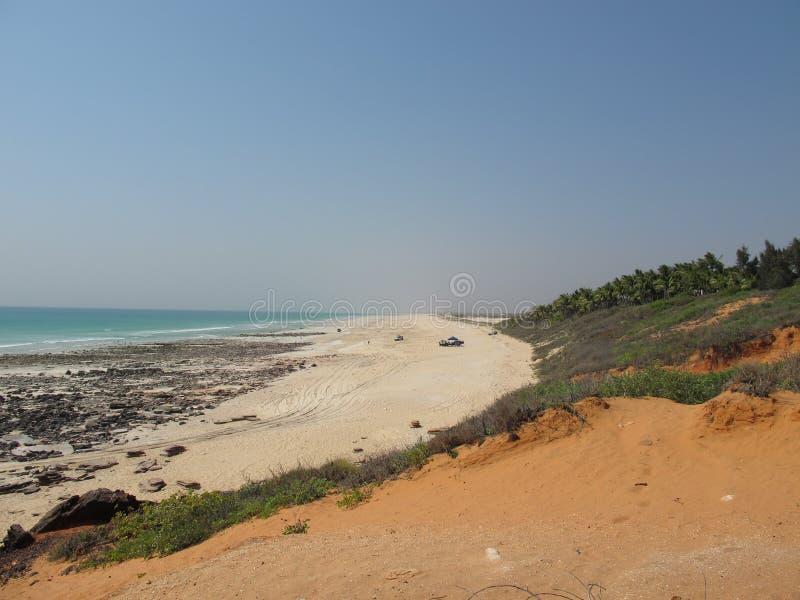 Kablowa plaża, Broome, zachodnia australia zdjęcia royalty free