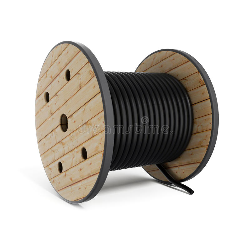 Kablowego bębenu węża elastycznego Przemysłowa rolka royalty ilustracja