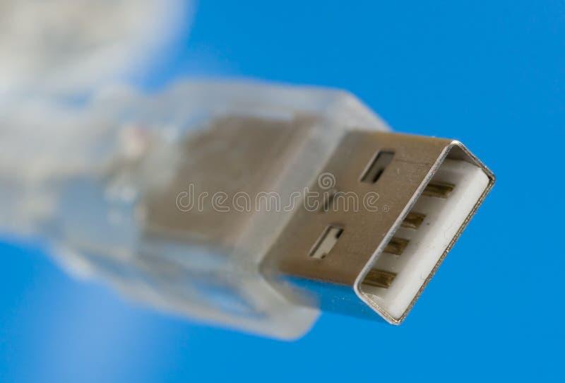 kablowy błękit usb fotografia stock
