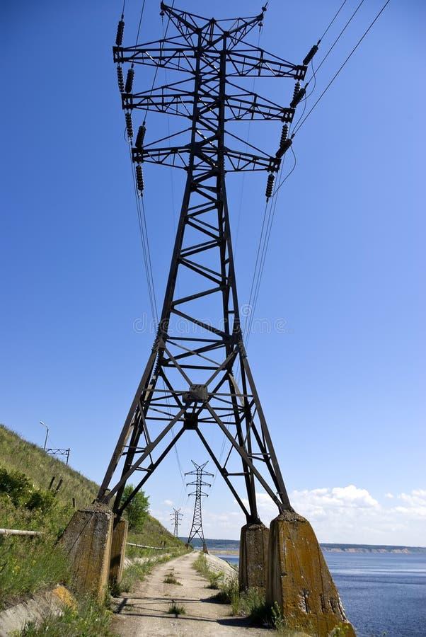 kablowy elektryczny wysoki woltaż fotografia stock