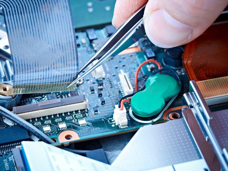 kablowy notatnika naprawy faborek obraz stock