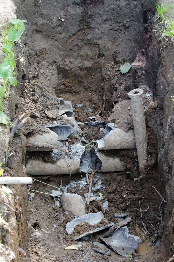 kablowy poborcy wypadek z pod ziemią obrazy stock
