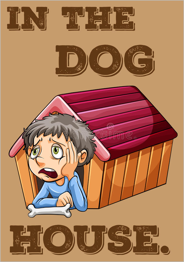 4 kablowy psiej rodziny przyjaciela dom mieści dzierżawiących rok royalty ilustracja