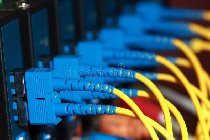 kablowy włókno światłowodowe obrazy stock