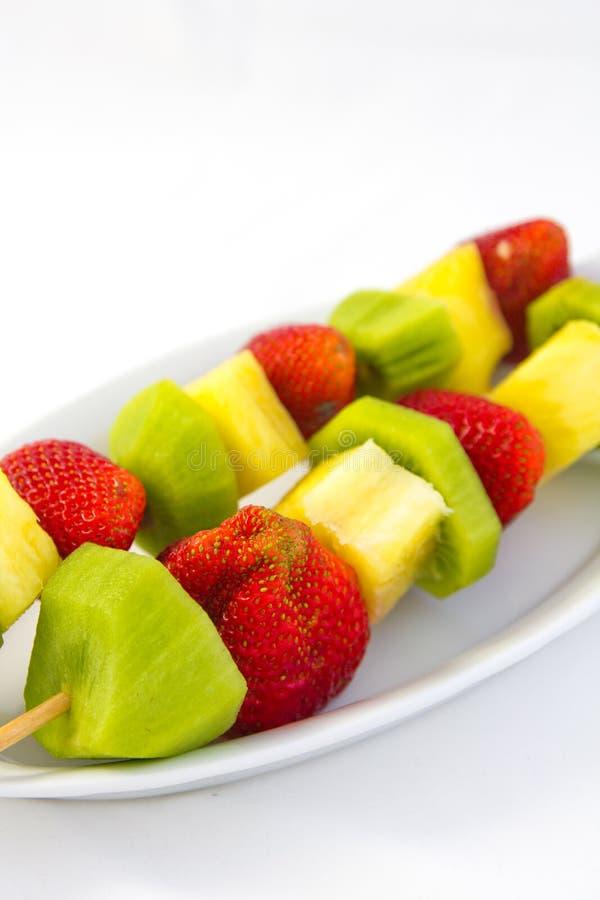 Kabob da fruta imagem de stock royalty free