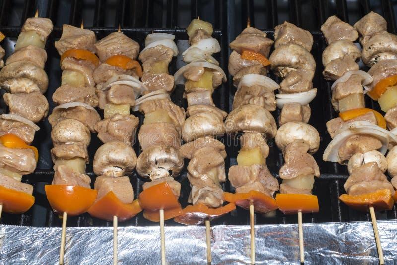 Kabob de Shish del pollo imágenes de archivo libres de regalías