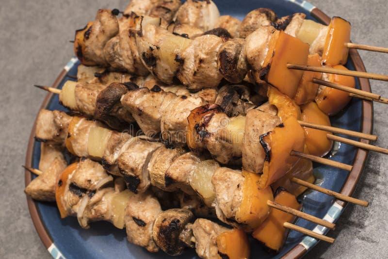 Kabob de Shish del pollo fotografía de archivo