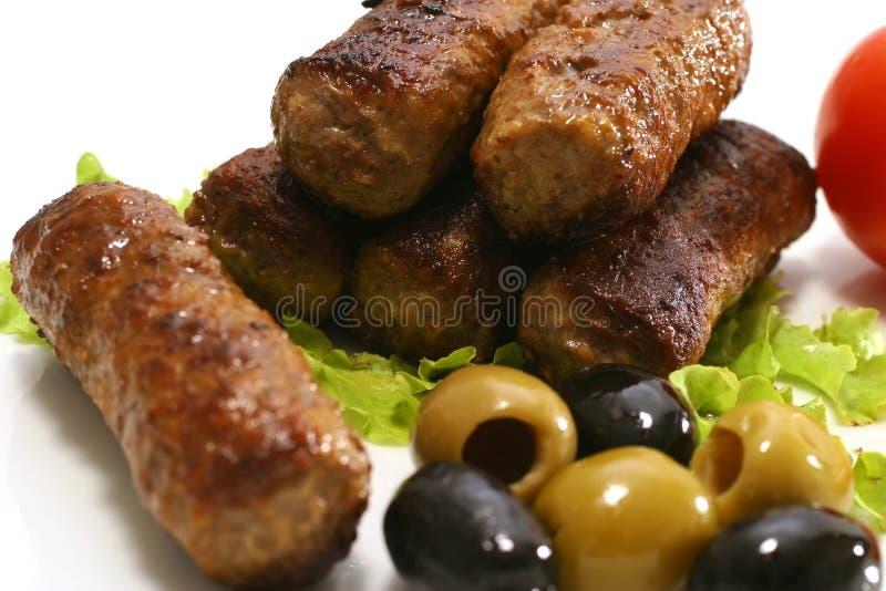 Download Kabob rolls and olives stock image. Image of color, kebab - 5236209