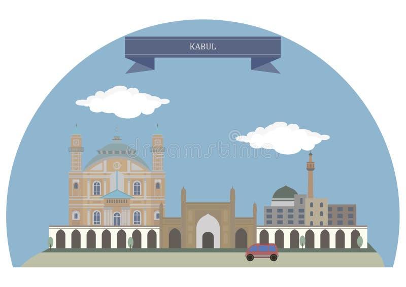 Kaboel, Afghanistan stock illustratie