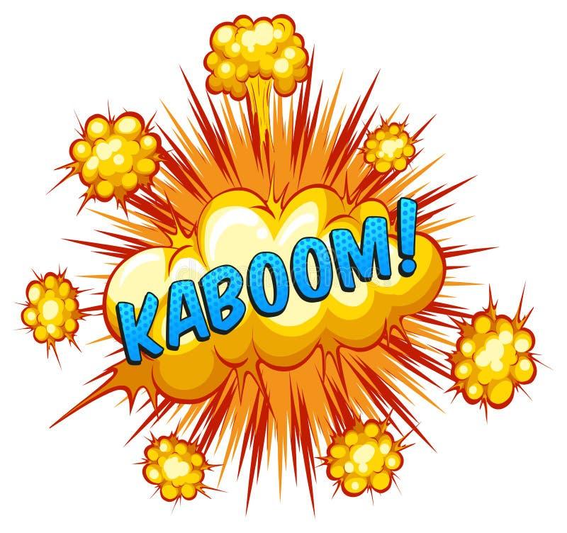 kaboom ilustração royalty free