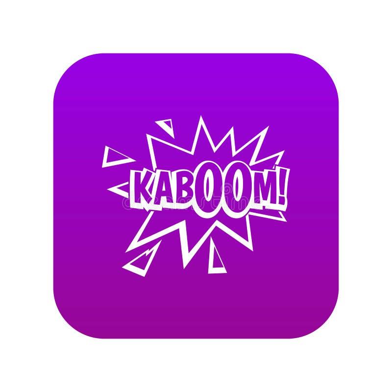 Kaboom, roxo digital do ícone da explosão ilustração royalty free