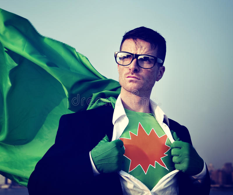 Kaboom Strong Superhero Success Professional Empowerment Stock C royalty free stock images