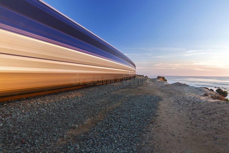 Kabotażowiec kolejki Wysokości Przyśpieszający Del Mącący Sunący San Diego okręg administracyjny zdjęcie royalty free