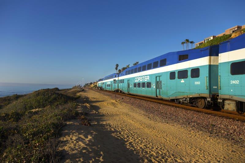 Kabotażowiec prędkości Wysoka kolejka San Diego Okręg administracyjny Del Mącący Wzrost obraz royalty free