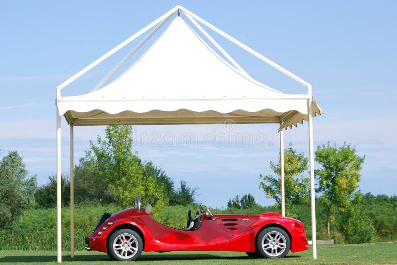 kabriolet czerwień samochodowa szybka obrazy royalty free