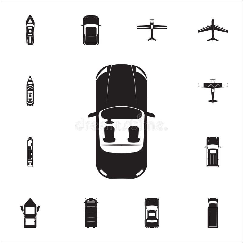Kabriolet ikona Szczegółowy set Przewieziony widok od above ikon Premii ilości graficznego projekta znak Jeden inkasowe ikony ilustracji