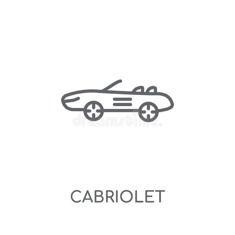 Kabriolet liniowa ikona Nowożytny konturu kabrioletu logo pojęcie dalej ilustracja wektor