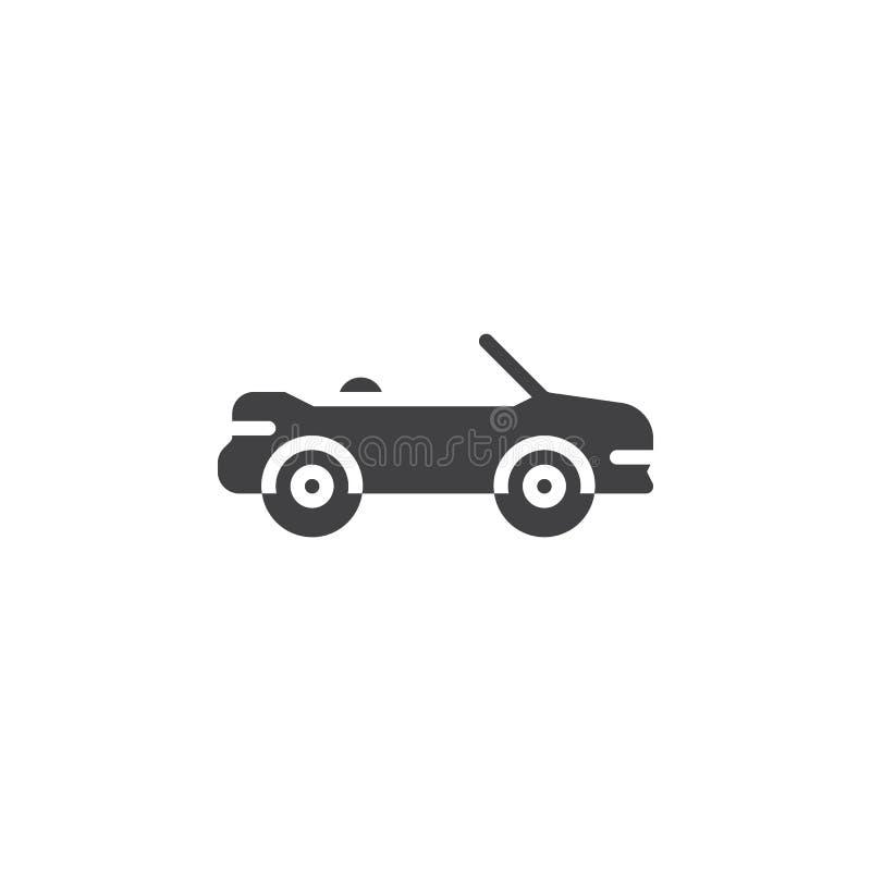 Kabriolet samochodowa wektorowa ikona ilustracja wektor