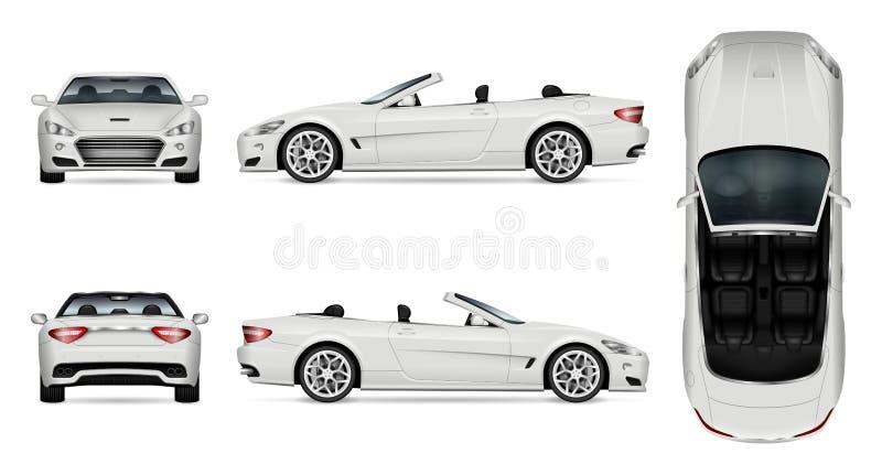 Kabrioletu samochodowy wektorowy mockup royalty ilustracja