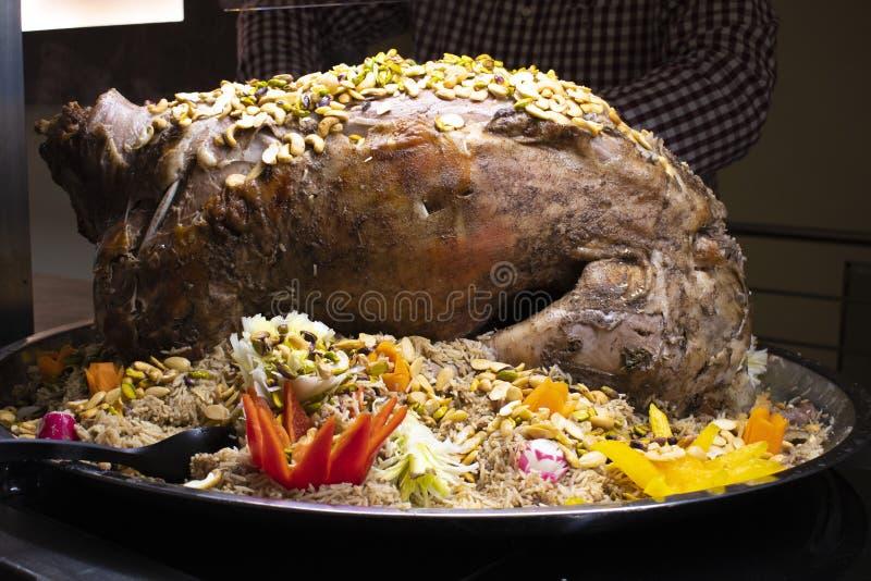 Kabsa, блюдо Саудовской Аравии национальное стоковое фото rf