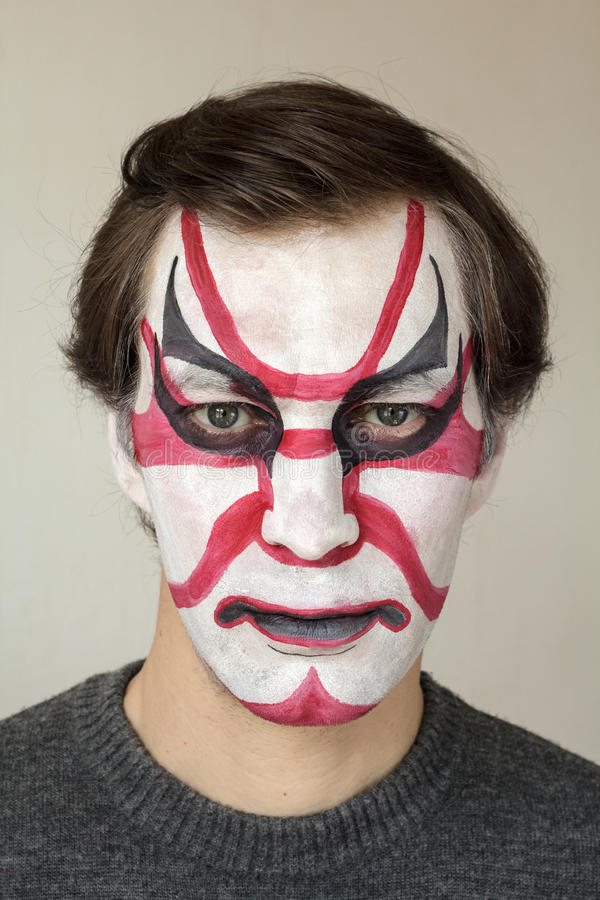 Kabuki de peinture de visage photos stock