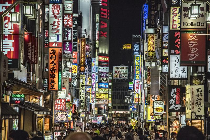 Kabukicho光,东京,日本 免版税库存照片