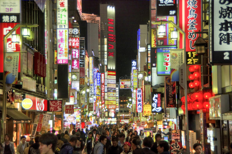 Kabukicho, Tokyo fotografia stock libera da diritti