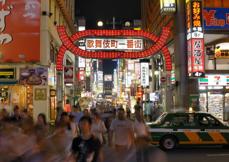 Kabukicho in Tokyo, Japan stockfotografie