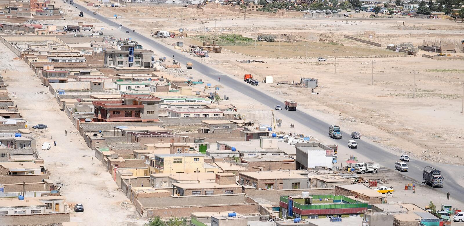 Download Kabul - Aerial View stock image. Image of road, travel - 7711603